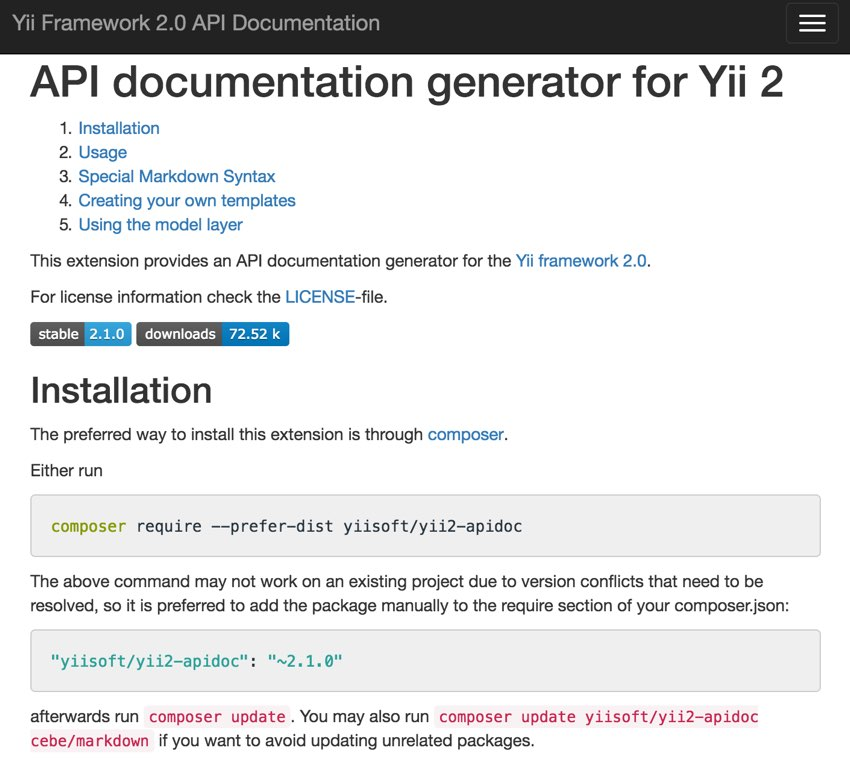Programming With Yii: Generating Documentation - All Pro Web