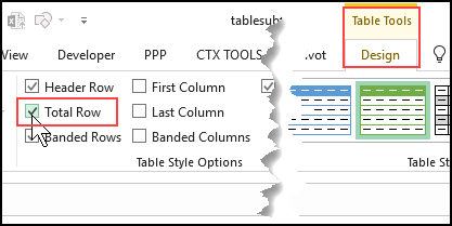 Add Data to Excel Table with Total Row - All Pro Web Designs