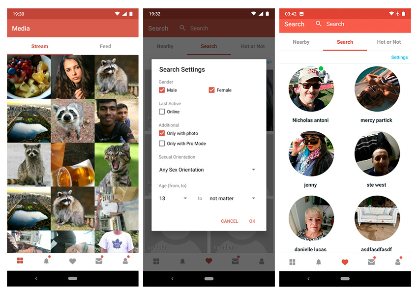 Social Networking dating apps voor Android